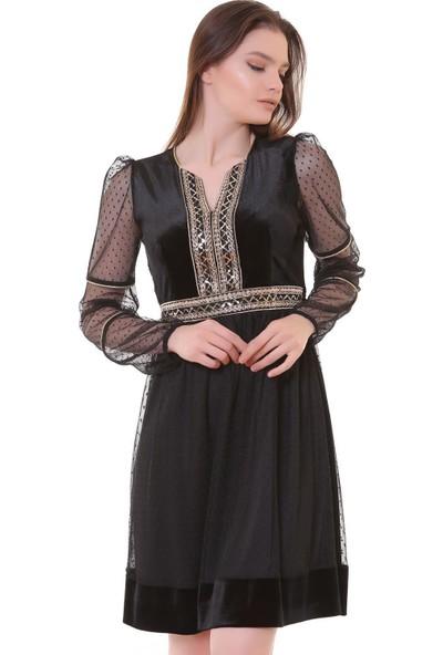 Machek Kadife Kadın Elbise
