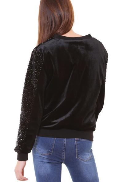 Machek Kadife Kadın Payet Ceket