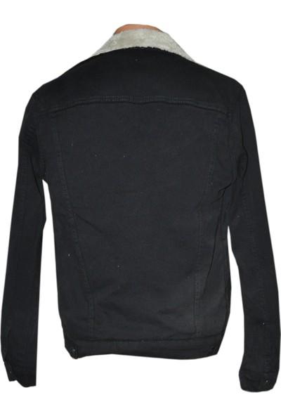 Goong Zerin Siyah İçi Kürklü Erkek Kot Ceket