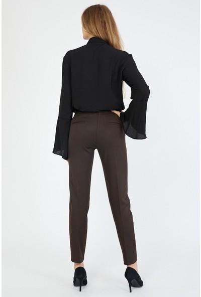 Bazza Kadın Kahverengi Pantolon