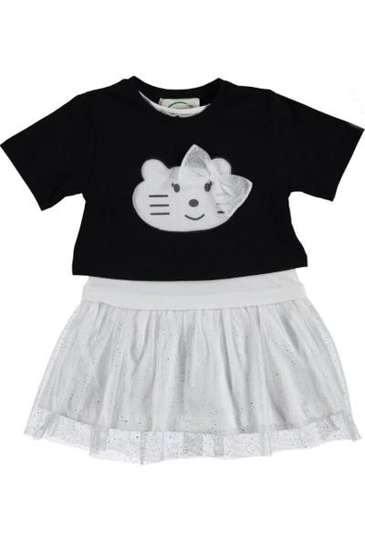 Via Girls Kız Çocuk Fiyonklu Kız Çocuk Elbise 1-4 Yaş