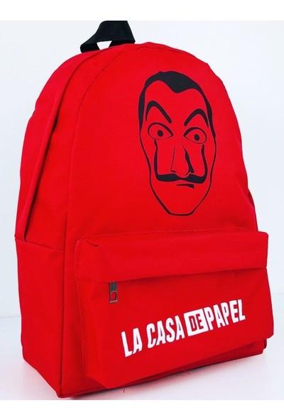 Çantacım La Casa De Papel Kırmızı Sırt Çantası