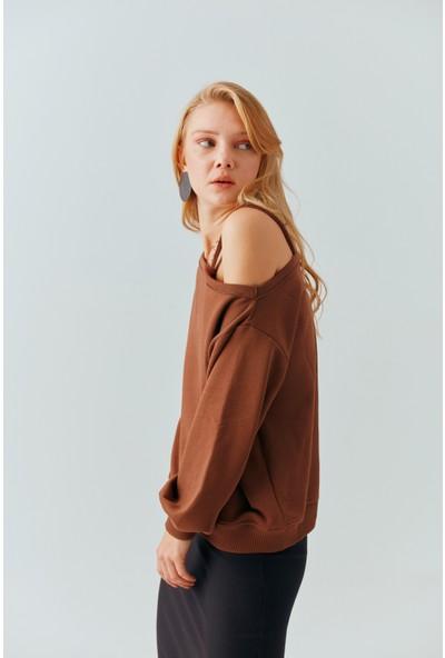Cream&Rouge 19-2042 Sweatshirt Tek Kol Askılı