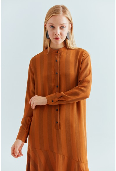 Cream&Rouge 19-2078 Elbise Yarım Patlı