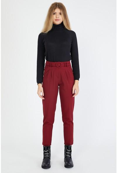 Bazza Kadın Bordo Pantolon