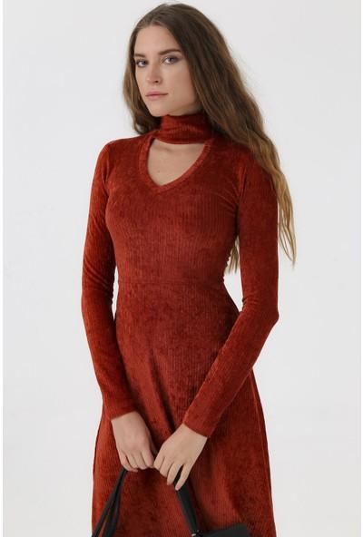 Jument Kadın 6373 Kiremit Elbise
