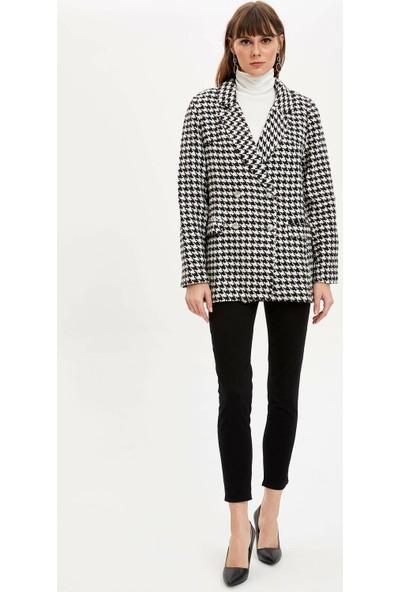 DeFacto Kazayağı Blazer Ceket