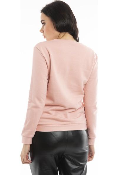 Hds Hadise Gül Kurusu Baskılı Sweatshirt D2065