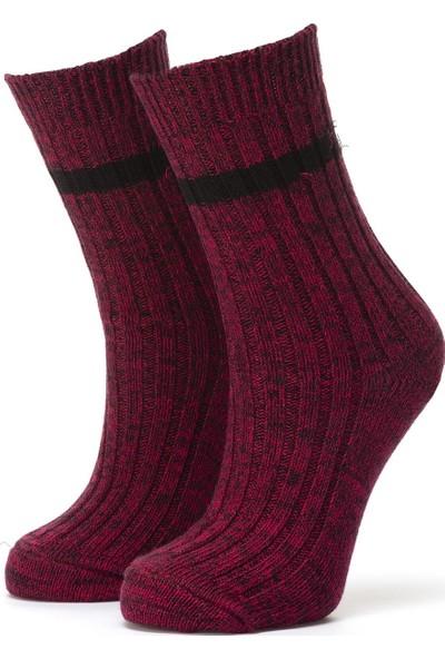 Ciorap 3'lü Kadın Çemberli Trekking Çorap 3467-A3