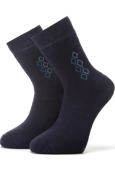 Ciorap 3'lü Erkek Konç Desenli Havlu Çorap 4453-A3