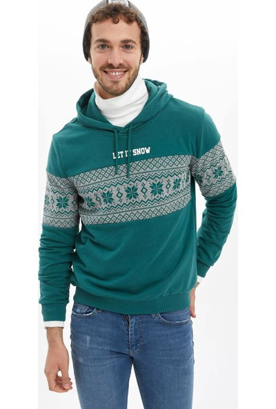 Defacto Yeni Yıl Temalı Sweatshirt
