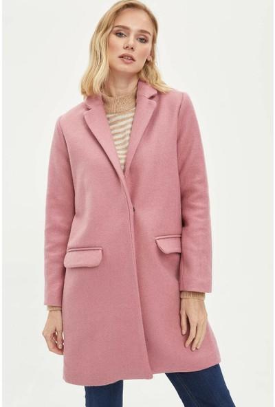 Defacto Uzun Kaşe Ceket