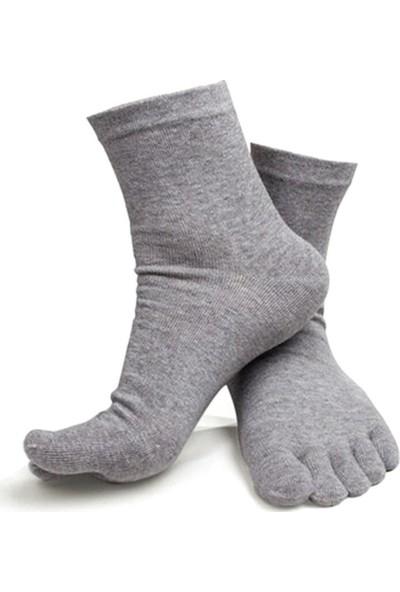 Tampap 6'lı Parmaklı Siyah Hijyenik Erkek Mantar Çorap