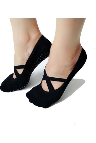 Tampap 3'lü Kadın Pilates Çorabı