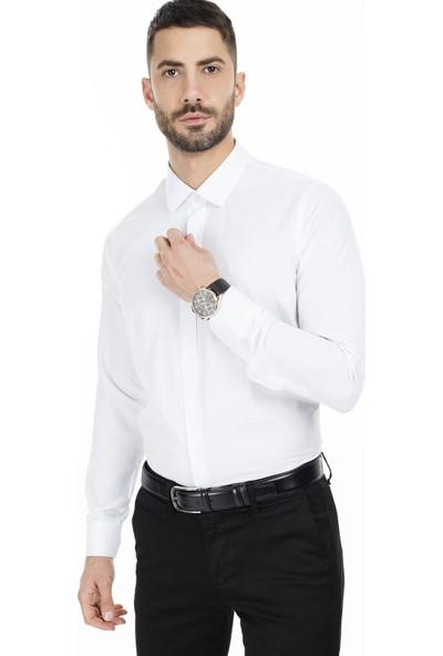 Sabri Özel Slim Fit Uzun Kollu Gömlek Erkek Uzun Kollu Gömlek 5431701