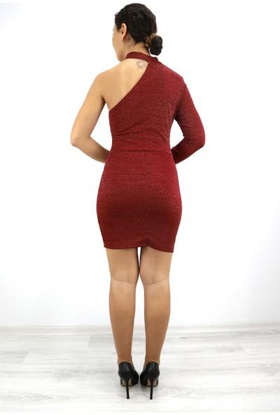 Skdress Atlas Sim Kumaş Elbise