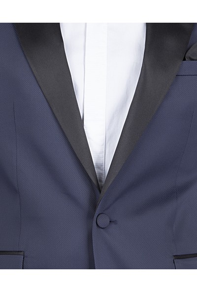 D's Damat Slim Fit Lacivert Smokin Takım Elbise