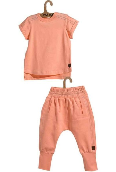 Moi Noi Zincir Dikişli Bebe Tshirt Takım 4046-31 3 - 6 Ay