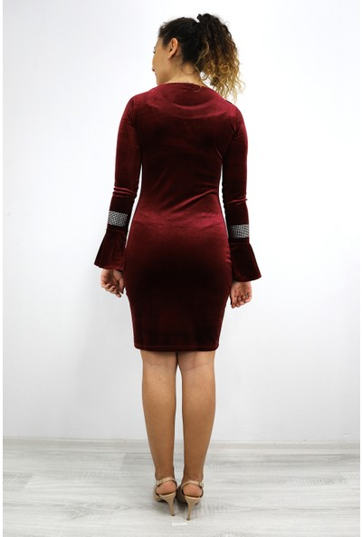 Skdress Kadife Kumaş Elbise