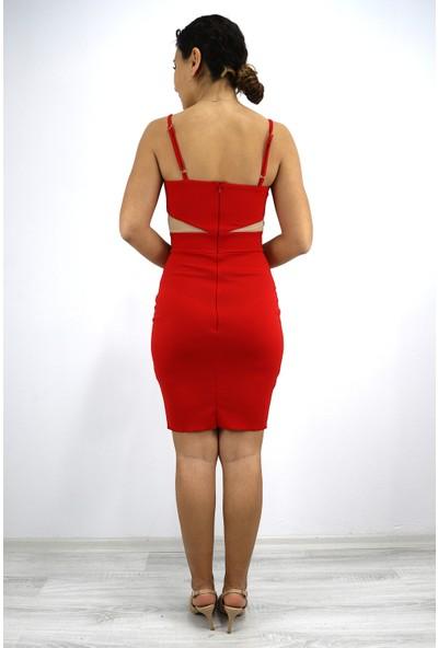 Skdress Atlas Kumaş Mini Boy Elbise