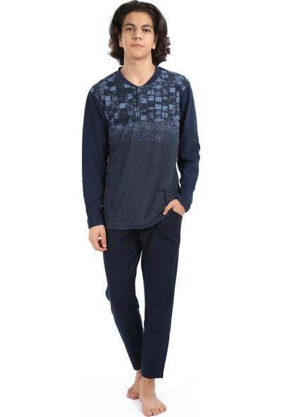 Akbeniz Erkek Lacivert Pijama Takım 6691