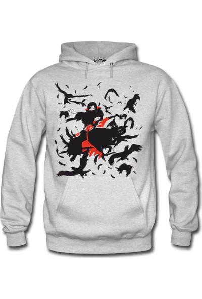 Dyetee Itachi Naruto Erkek Kapüşonlu Sweatshirt