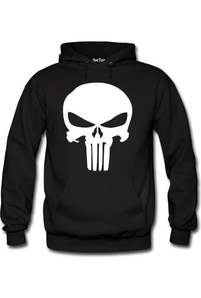 Dyetee Punisher Erkek Kapüşonlu Sweatshirt