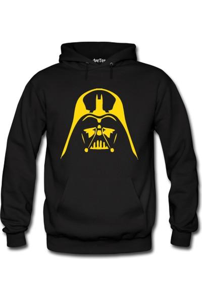 Dyetee Star Wars Darth Vader Erkek Kapüşonlu Sweatshirt