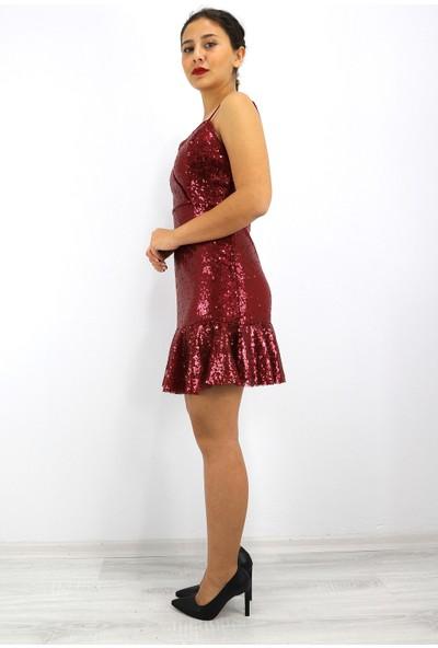 Skdress Payet Kumaş Mini Elbise