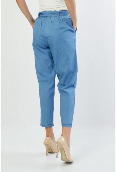 Bazza Kadın Tensel Cepli İnce Kot Pantolon
