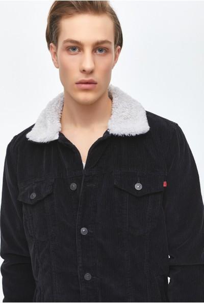 Ltb Tawney Black Corduroy Wash Erkek Jeans Ceket