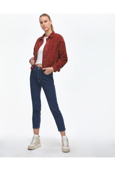 Ltb Kaylin Caramel Shadow Wash Kadın Jeans Ceket