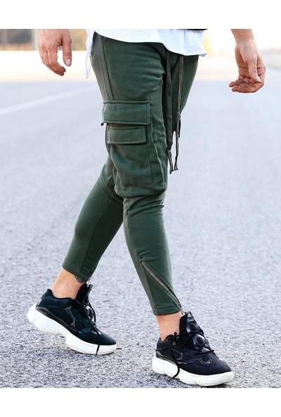 Bpm Çift Cepli Fermuar İşleme Slim Fit Jogger Eşofman Streetwear Pant