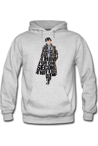 Dyetee Sherlock Typo Kadın Sweatshirt