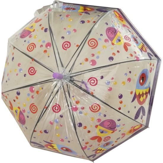 Adalinhome Çocuk Şemsiyesi Mor Balık