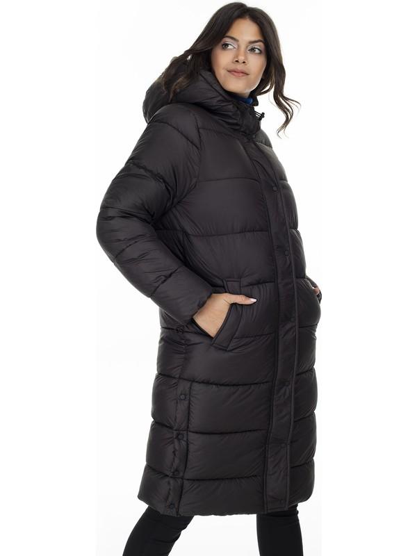 Only Siyah Kadın Montu 15182358-Black Onlcammie Long Quilted Coat Otw