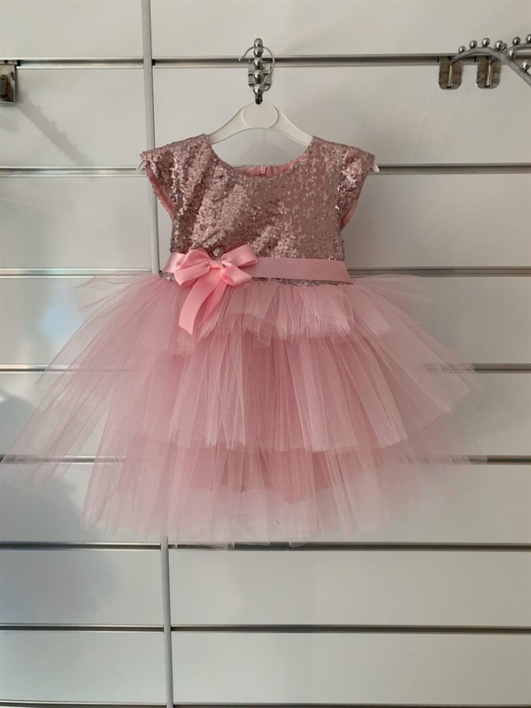 Pumpido Payetli Kız Çocuk Elbise 2-5 Yaş