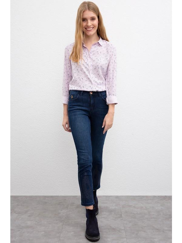 U.S. Polo Assn. Kadın Denim Pantolon 50209331-Dn0023
