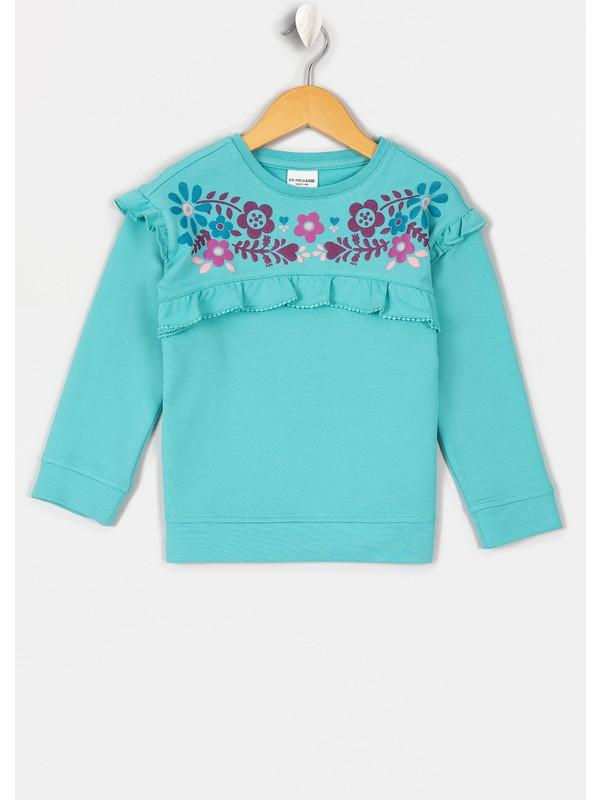 U.S. Polo Assn. Kız Çocuk Sweatshirt 50210567-Vr090