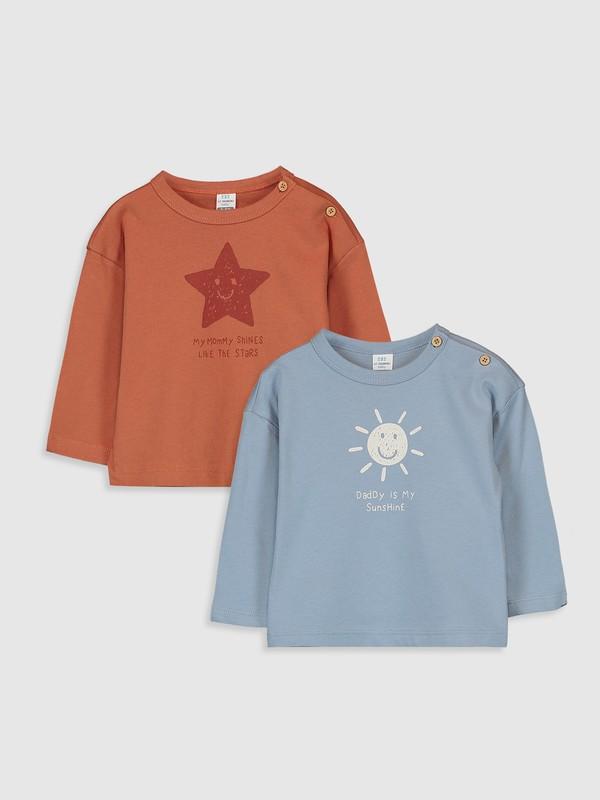 LC Waikiki Erkek Bebek T-Shirt 2'Li