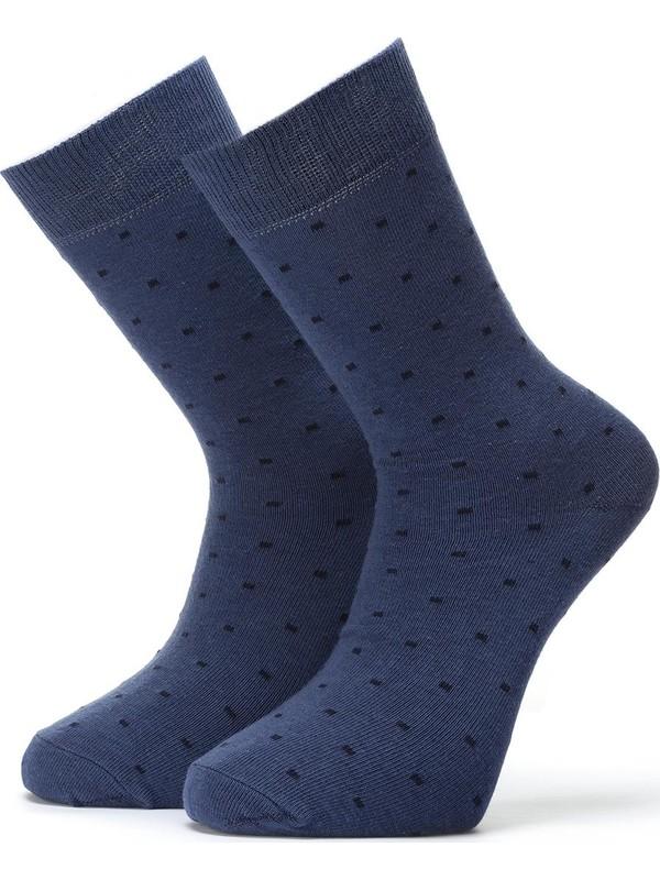 Ciorap 3'lü Erkek Nokta Desenli Çorap 4408-A3