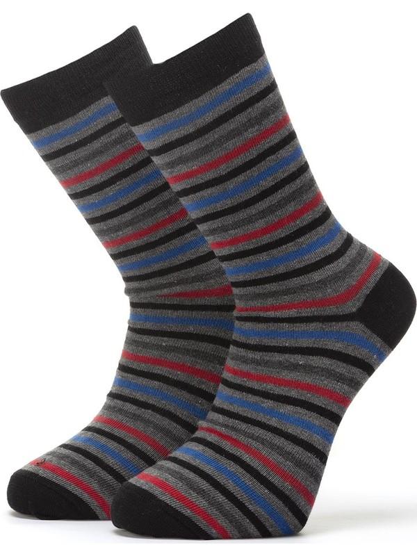 Ciorap 3'lü Erkek Çember Desenli Çorap 4417-A3