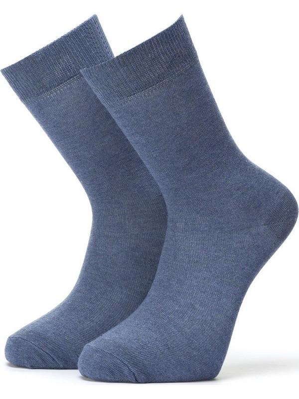 Ciorap 6'lı Erkek Düz Çorap 4450-A6