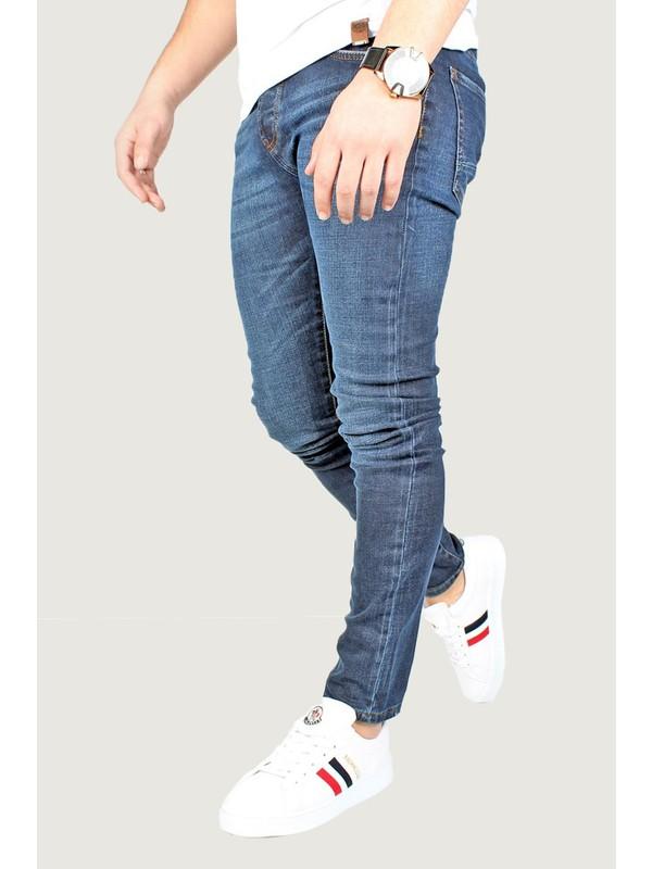 Terapi Men Erkek Kot Pantolon Likralı 8K-2100306-004-1 Mavi