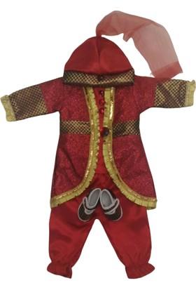 Elci Sultan Kaftan Bebek Kırmızı Mevlit Takımı