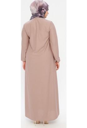 Ecesun Kadın Bilekleri Lastikli Elbise