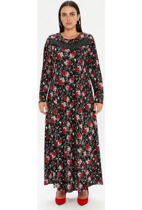 Gelince Kadın Çiçek Desenli Elbise