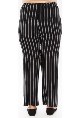 Gelince Kadın Çizgili Pantolon