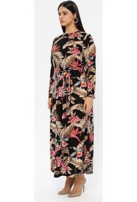 Gelince Kadın Desenli Elbise