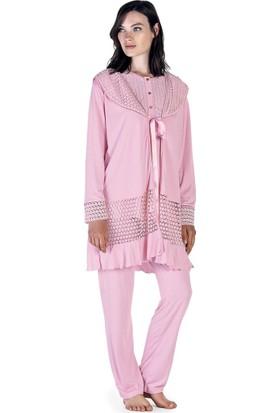 Artış Collection Kadın İnterlok 3`lü Sabahlık Pijama Takımı
